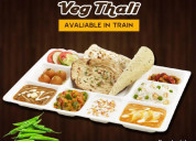 Train food service in agra fort