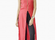 Buy casual sleeveless solid women red top online a