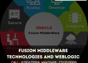 Oracle fusion middle ware online training content