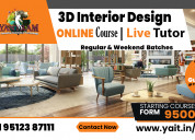 3d architectural modelling online course with live