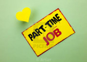 Part time jobs for freshers