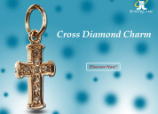 Buy cross diamond charm in gold