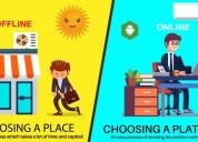Do you do offline business even today   online bus