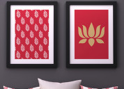 Bring wall decor for living room @ wooden street