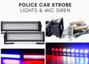 buy police car strobe lights & mic siren @ 499
