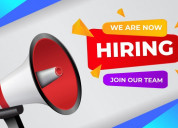 Available part time / full time work for freshers