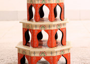Latest designs of wooden chowki at wooden street
