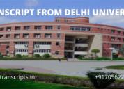 Transcript from du, delhi