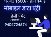 Online data input jobs