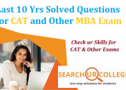 Cat exam 2020 last 10 years solved questions paper