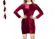Shop sheath maroon dress for women online at flipk