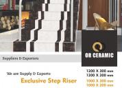 Stair tiles - step riser tiles latest price, morbi