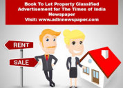 Get times of india rent property classified ads