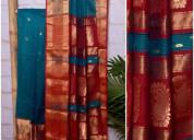Ajrakh maheshwari saree - ssethnics