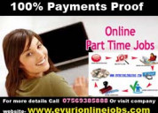 Fresher part time home based online data entry job