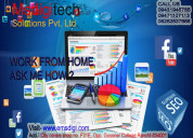 Part and full time home based online work