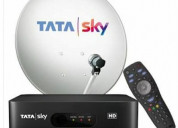 Tatasky hd  box + hindi lite pack free for  6  mon