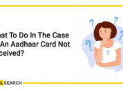 Physical aadhaar card not received