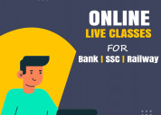 Best online live classes for bank ssc railway