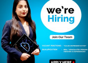 We are hiring sales representative to work from yo