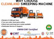Wide range diesel operated road sweeping machine