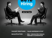 We are hiring sales representaive to work from you