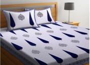 Get double bedsheets online @wooden street