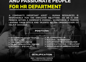 Hiring for hr department