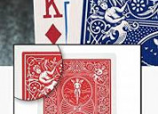 Invisible marked playing card