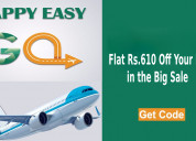 Flat rs.610 off your booking in the big sale