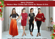 Shop designer kurtis online on merry christmas