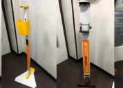 Stainless steel hand sanitizer dispenser stand man
