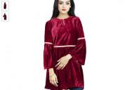 Shop velvet kurta for ladies online at amazon