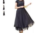 Shop maxi black dress for ladies online at flipkar