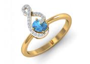 Buy adina blue topaz ring
