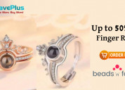 Get up to 50% off on rings