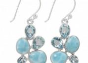 Buy unique sterling silver larimar stone jewelry