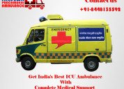Book ambulance from hajipur with medical facility