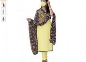 Shop cotton kurta pant and black dupatta for ladie