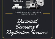 Digitized documents scanning services