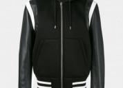 Givenchy hooded leather varsity jacket