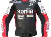 Aprilia black motorcycle jackets for men
