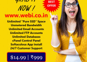 5 years unlimited ssd cpanel webhosting plan for j