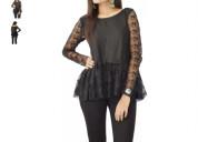 Shop casual full sleeve printed black top at flipk