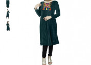 Shop green velvet ethnic dress at flipkart