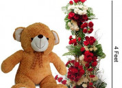 Send flowers and teddy bears combo gifts in india