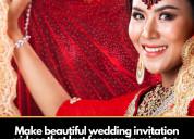 Wedding invitation videos maker selfanimate.com