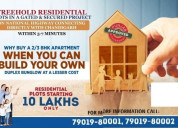 Freehold residential plots with immediate possessi