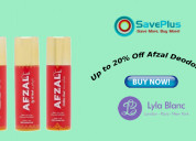 Get up to 20% off on fragrences & deoderants