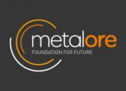 Metalore manufacturing in india